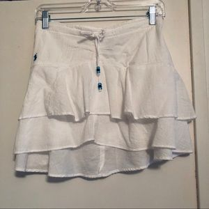 White Polo Skirt with Adjustable Waist size L
